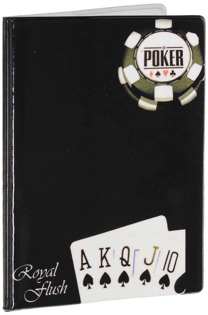 Обложка для паспорта мужская Эврика Покер, цвет: черный. 92508 фигурка есть такая профессия на работе сидеть эврика