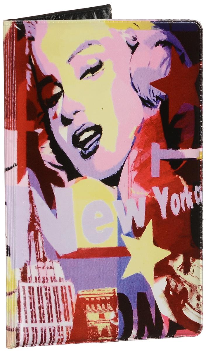 Обложка для паспорта Эврика Америка, цвет: мультиколор. 96057 обложка для паспорта driver цвет мультиколор вдопк8