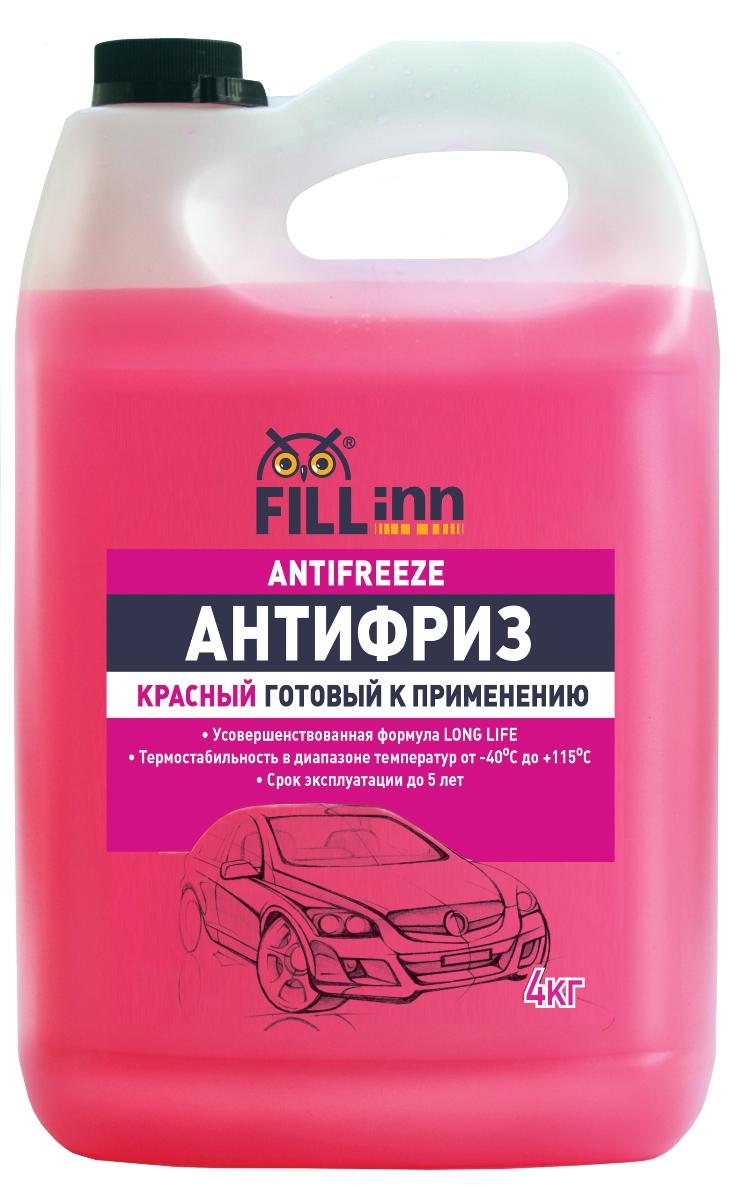 "Антифриз ""Fill Inn"", готовый, цвет: красный, 4000 мл FL038"
