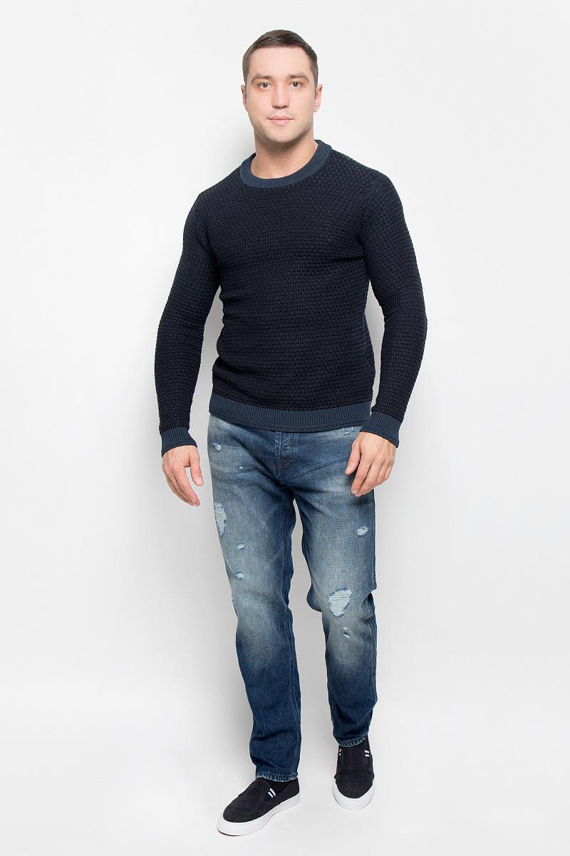 Джемпер мужской Selected Homme Heritage, цвет: темно-синий. 16052515. Размер XL (50) жилет мужской selected homme цвет темно синий 16053203 размер 56