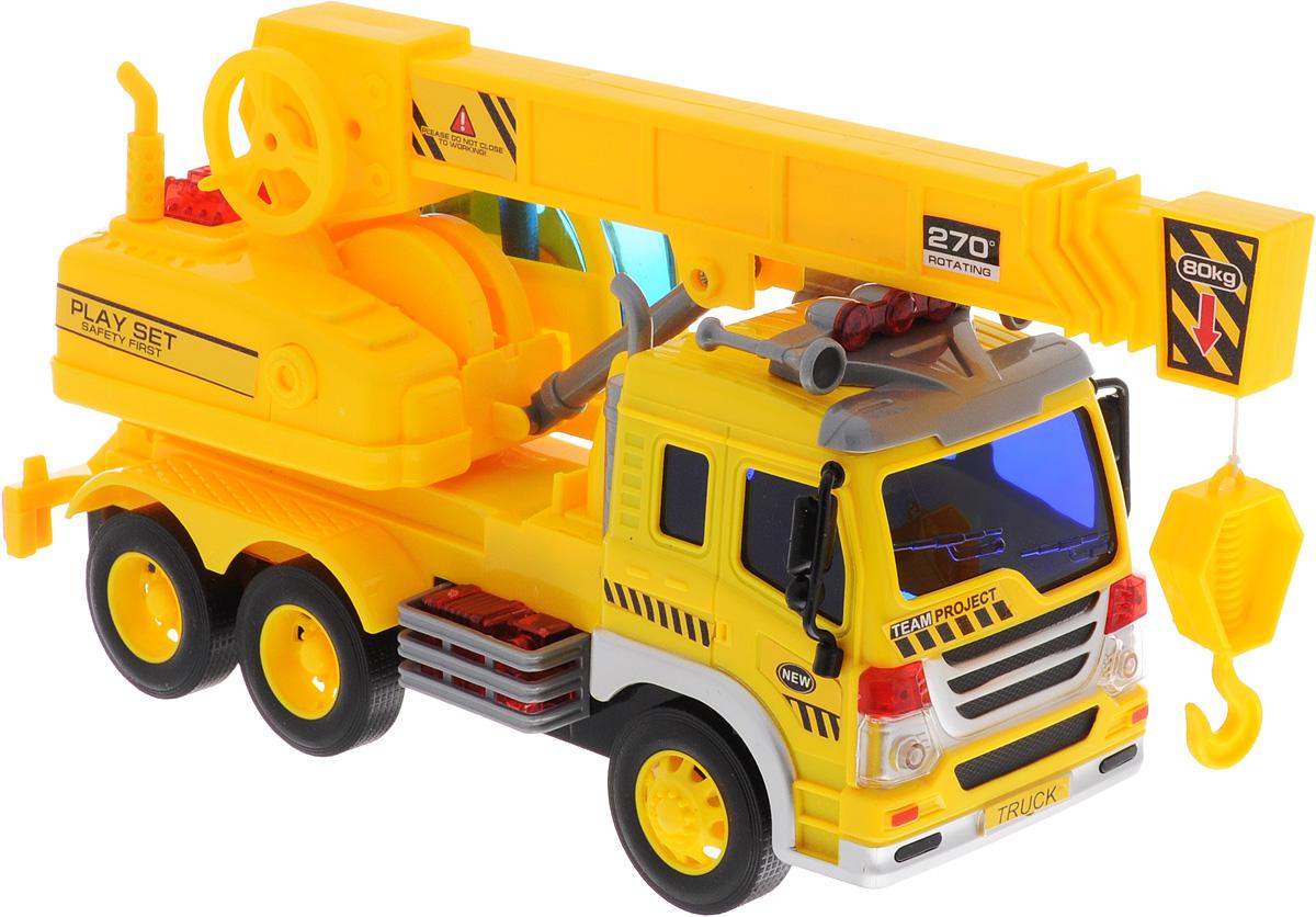Dave Toy Кран инерционный цвет желтый