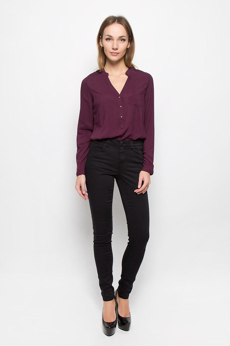 Брюки женские Broadway Jane, цвет: черный. 10156830. Размер L (48)10156830_999Стильные женские брюки Broadway Jane - это изделие высочайшего качества, которое превосходно сидит и подчеркнет все достоинства вашей фигуры. Брюки-скинни стандартной посадки выполнены из эластичного высококачественного материала, что обеспечивает комфорт и удобство при носке. Модель застегивается на пуговицу в поясе и ширинку на застежке-молнии, имеет шлевки для ремня. Брюки имеют классический пятикарманный крой: они оснащены двумя втачными карманами и небольшим втачным кармашком спереди, и двумя втачными карманами на пуговицах сзади.Эти модные и в то же время комфортные брюки послужат отличным дополнением к вашему гардеробу и помогут создать неповторимый современный образ.