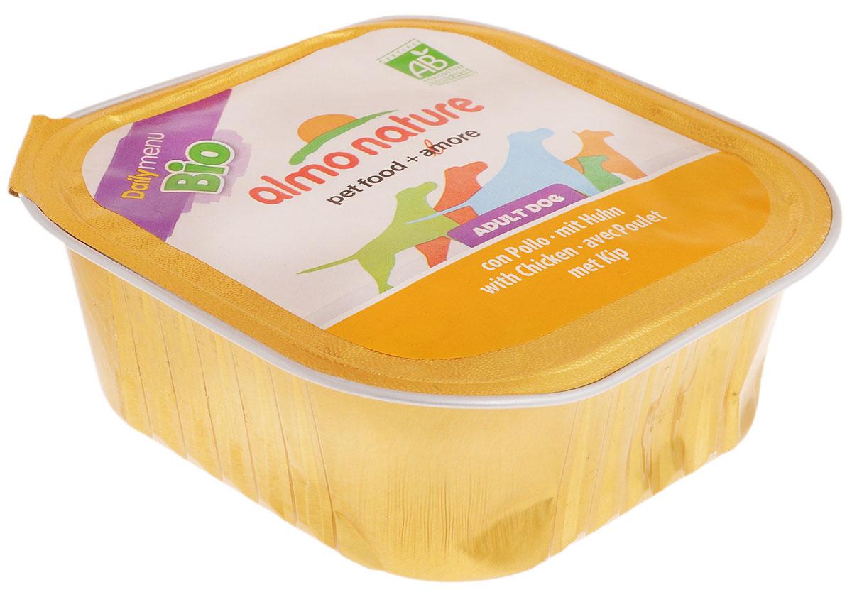 Паштет для собак Almo Nature Daily Menu. Biо, с курицей, 300 г10168Паштет для собак Almo Nature Daily Menu. Biо изготовлены из отборных, гипоаллергенных и легко усвояемых ингредиентов. Содержат питательные, высококачественные продукты: подлинное мясо свободного выгула - без гормонов и антибиотиков, а также овощи и злаки, произрастающие в экологически чистых условиях без использования пестицидов и химических веществ.Состав: мясо и его производные (курица 4%), крупы, минералы.Питательные добавки: Витамин Е - 483 мг/кг, витамин D3 - 806 IU/кг.Гарантированный анализ: белок - 8,5%, клетчатка - 0,8%, жиры - 5,5%, зола - 2,5,%, влажность - 81%.Товар сертифицирован.