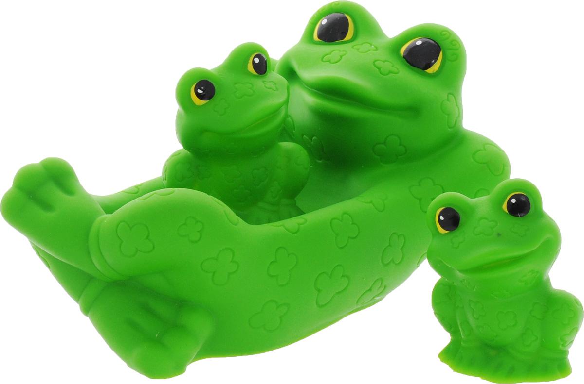 Огонек Набор игрушек для ванной Лягушка с лягушатами 3 шт mara baby набор игрушек для ванной веселая компания 3 шт