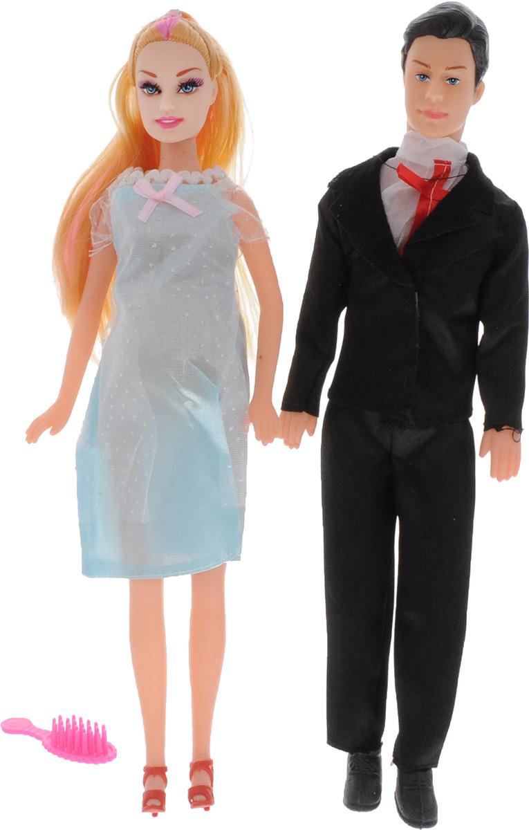 Shantou Набор кукол цвет одежды черный голубой 2 шт