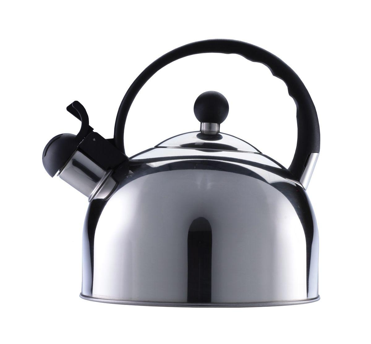 Чайник Walmer, 2,5 лW11000318Никто не расскажет об истинно британском качестве лучше, чем Walmer! Практичный чайник, изготовленный из нержавеющей стали, снабженный термоизолированной ручкой из бакелита и свистком, станет вашим верным помощником – сообщит о закипании и позволит безопасно налить кипяток. Вскипятить 2,5 литра воды буквально за несколько минут? С чайником от Walmer это возможно! Он оборудован трехслойным дном: использование в нем алюминиевого слоя позволяет максимально быстро нагревать весь объем содержимого. Чайник выполнен в элегантном, минималистичном стиле – холодный блеск нержавеющей стали отлично гармонирует с любой цветовой палитрой посуды на современной кухне. Свисток чайника одновременно выполняет и защитную функцию, закрывая носик и блокируя путь брызгам воды при закипании – оборудованный предохранительной накладкой из бакелита, он никогда не станет причиной ожога. Представленный чайник от Walmer подходит для любых типов плит, включая индукционные. Его легко мыть, он не требует особенных усилий в уходе и, благодаря вытянутому по вертикали корпусу, экономит свободное место на плите или кухонной столешнице.