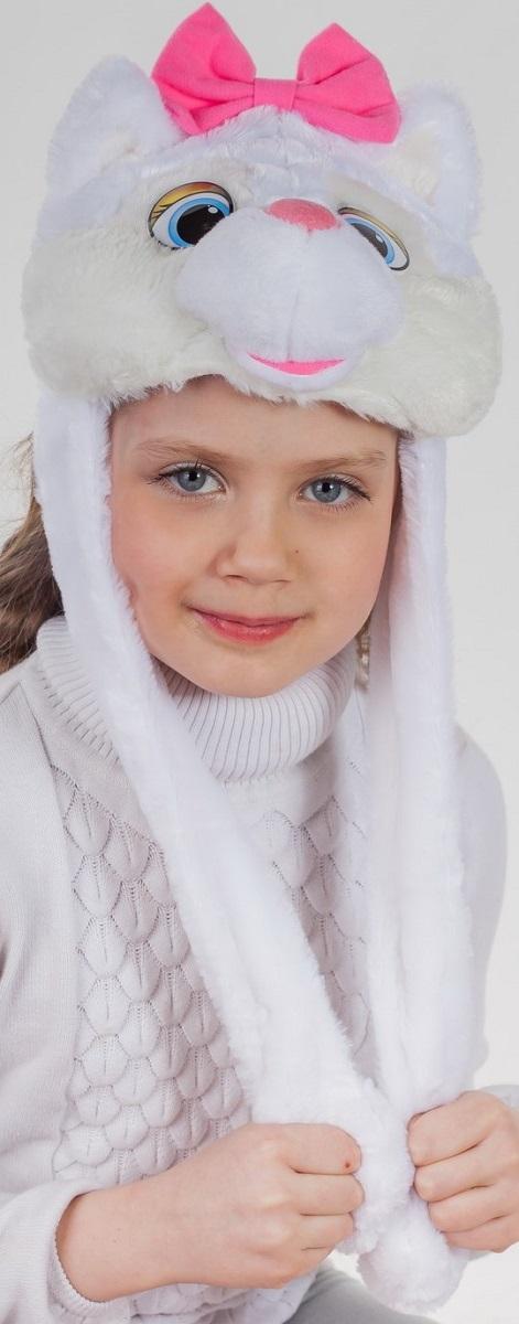 Карнавалия Карнавальный аксессуар для девочки Кошечка цвет белый размер 54