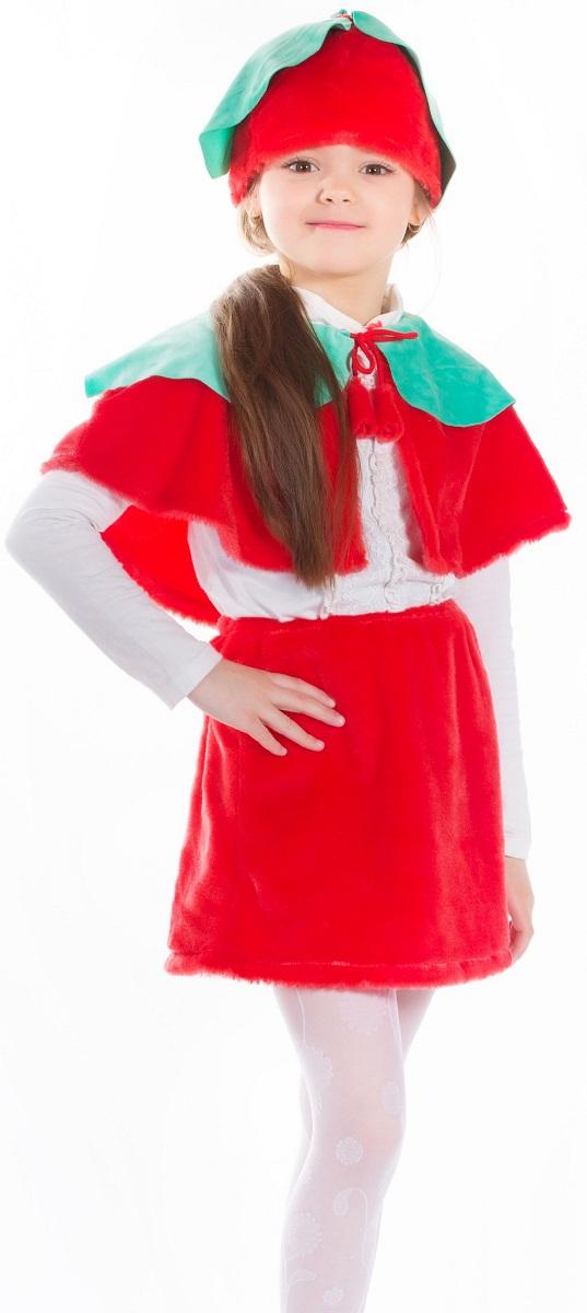 Карнавалия Карнавальный костюм для девочки Вишенка размер 122 карнавалия карнавальный костюм ежик