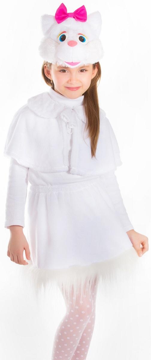 Карнавалия Карнавальный костюм для девочки Кошечка цвет белый шапочка кошечка розовая карнавалия