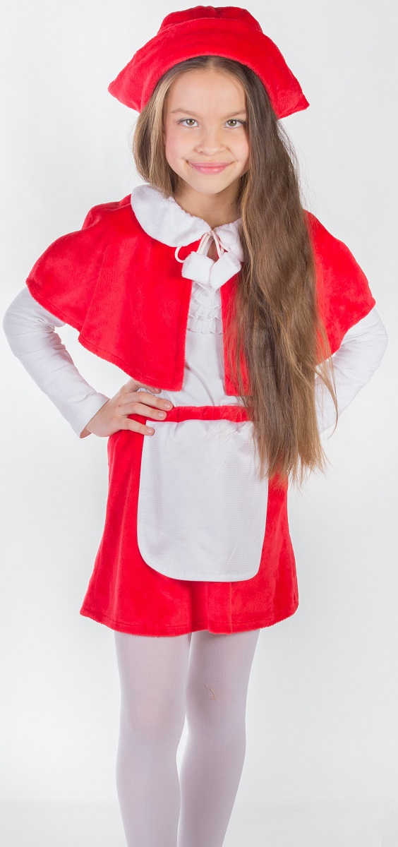 Карнавалия Карнавальный костюм для девочки Красная шапочка цвет красный рост 122 шапочка кошечка розовая карнавалия