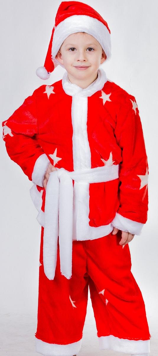 Карнавалия Карнавальный костюм для мальчика Санта-Клаусенок цвет красный рост 122 костюм рождественской санты 40 44