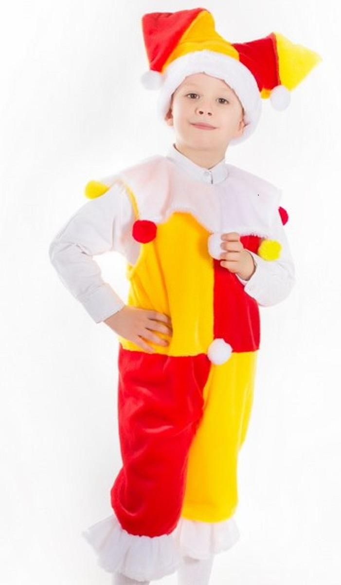 Карнавалия Карнавальный костюм для мальчика Скоморох размер 32 (122-60) шапочка кошечка розовая карнавалия
