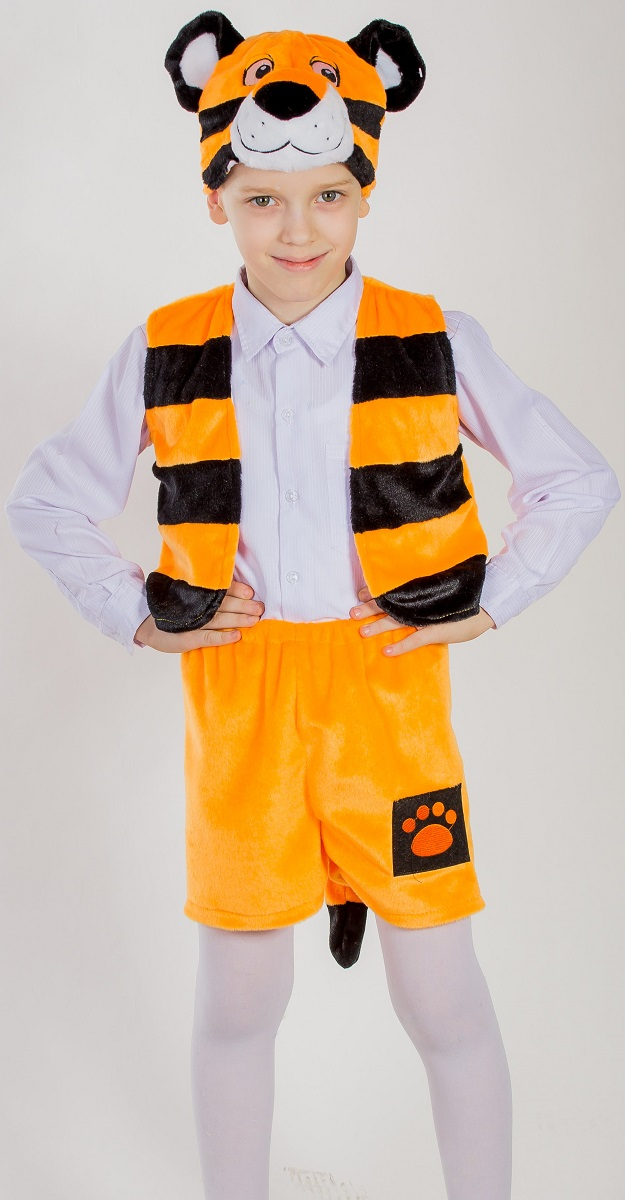 Карнавалия Карнавальный костюм для мальчика Тигренок рост 122 детский костюм джульетты 32 34
