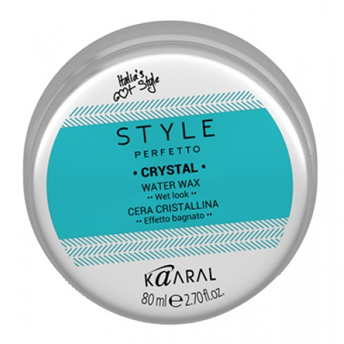 Kaaral Воск для волос с блеском Style Perfetto Crystal Water Wax, 80 мл kaaral лак без газа экстра фиксации style perfetto definer extra strong hold working no aerosol spray 350 мл