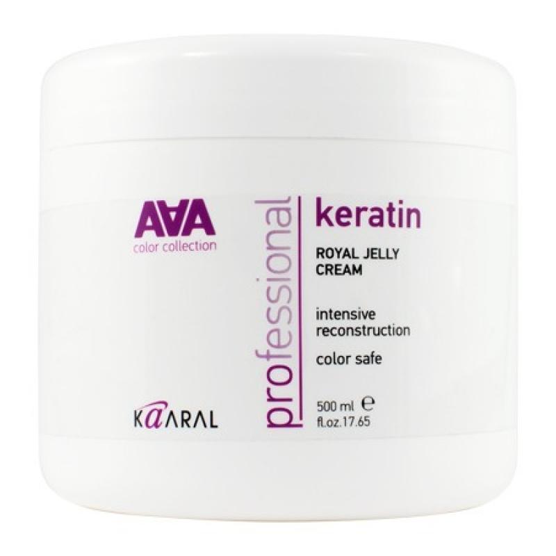 Kaaral Питательная крем-маска для восстановления окрашенных и химически обработанных волос AAA Keratin Royal Jelly Cream, 500 млААА1430Новая обогащенная формула восстанавливающего комплекса для сильно поврежденных волос. Интенсивная питательно-восстанавливающая маска обогащена натуральным гидролизованным кератином и пчелиным маточным молочком. Наличие в формуле продукта пчелиного маточного молочка, имеющего в своем составе более 150 активных ингредиентов, позволяет восстановить и реанимировать самые поврежденные волосы. Натуральный гидролизованный кератин интенсивно восстанавливает поврежденную структуру волоса как на поверхности, так и в самых глубоких слоях кортекса, возвращая волосам их природную силу, эластичность и блеск. Желеобразная консистенция делает использование маски максимально экономичным и удобным. Легко смывается водой, не утяжеляет волосы. Волосы становятся послушными, шелковистыми и блестящими.