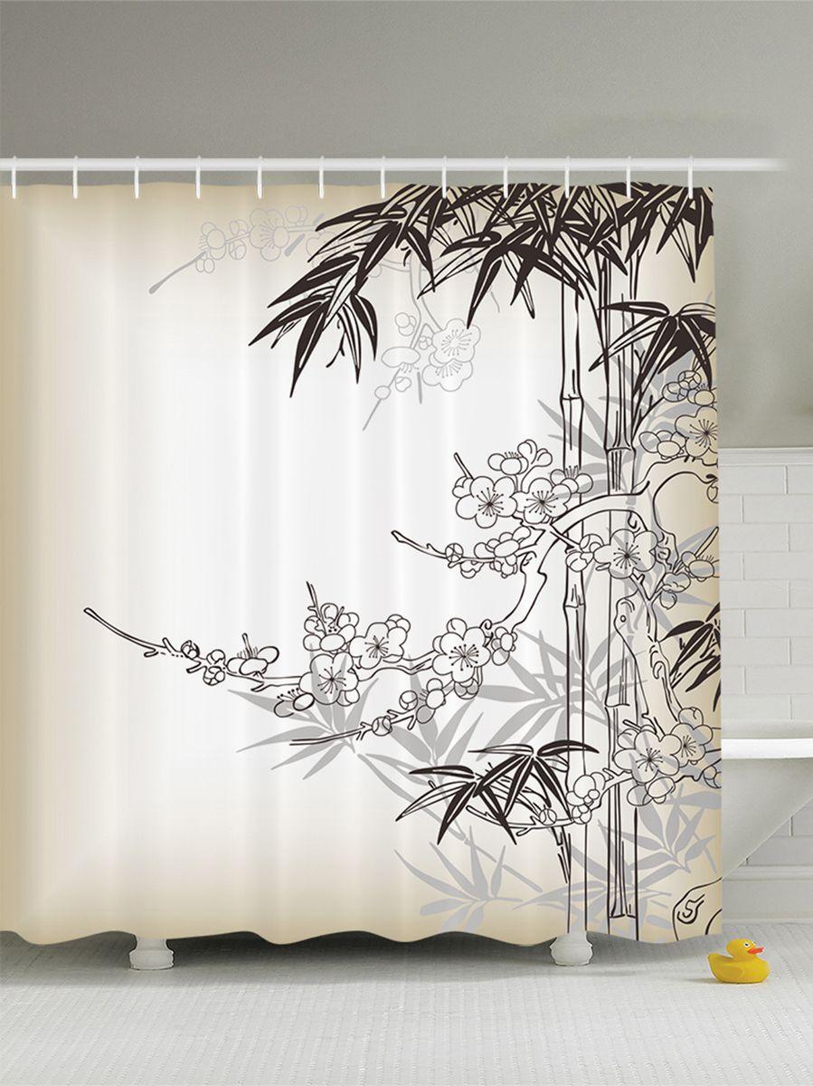"""Штора Magic Lady """"Гармония цветов и растений"""", изготовленная из высококачественного сатена (полиэстер 100%), отлично дополнит любой интерьер ванной комнаты. При изготовлении используются специальные гипоаллергенные чернила для прямой печати по ткани, безопасные для человека.    В комплекте: 1 штора, 12 крючков. Обращаем ваше внимание, фактический цвет изделия может незначительно отличаться от представленного на фото."""