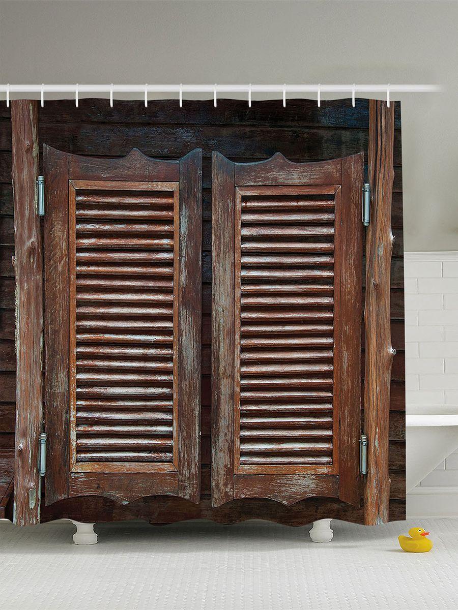 Штора для ванной комнаты Magic Lady Деревянные двери таверны, 180 х 200 смшв_10242Штора Magic Lady Деревянные двери таверны, изготовленная из высококачественного сатена (полиэстер 100%), отлично дополнит любой интерьер ванной комнаты. При изготовлении используются специальные гипоаллергенные чернила для прямой печати по ткани, безопасные для человека. В комплекте: 1 штора, 12 крючков.Обращаем ваше внимание, фактический цвет изделия может незначительно отличаться от представленного на фото.