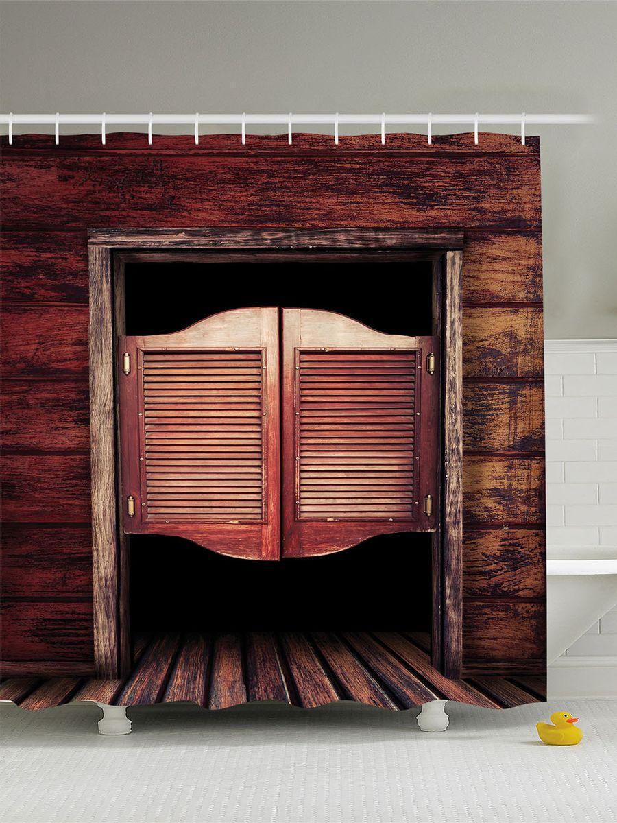 Штора для ванной комнаты Magic Lady Салун, 180 х 200 см фотоштора для ванной утка принимает душ magic lady 180 х 200 см