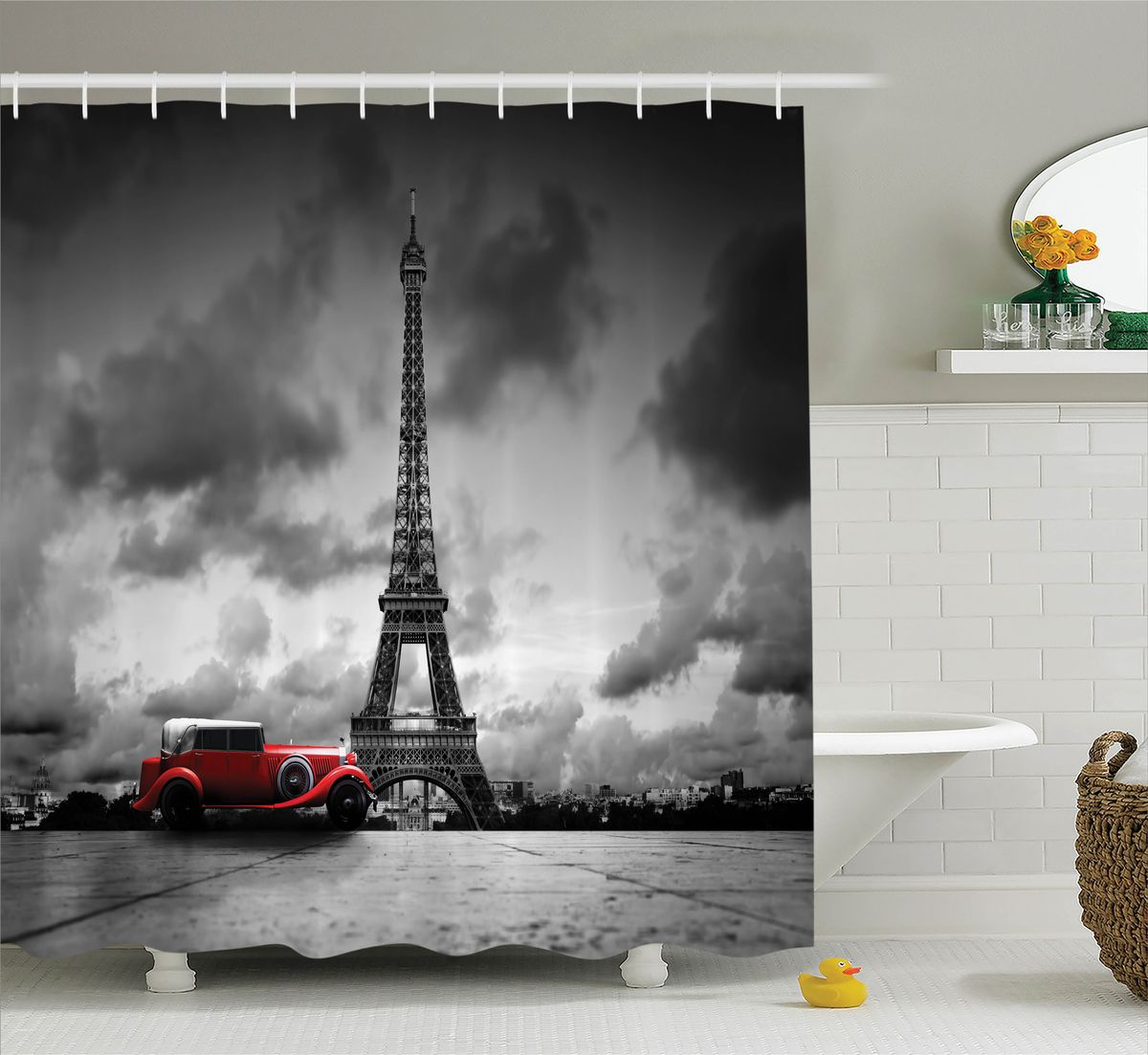 Штора для ванной комнаты Magic Lady Пасмурный день в Париже, 180 х 200 смшв_11322Штора Magic Lady Пасмурный день в Париже, изготовленная из высококачественного сатена (полиэстер 100%), отлично дополнит любой интерьер ванной комнаты. При изготовлении используются специальные гипоаллергенные чернила для прямой печати по ткани, безопасные для человека.В комплекте: 1 штора, 12 крючков. Обращаем ваше внимание, фактический цвет изделия может незначительно отличаться от представленного на фото.