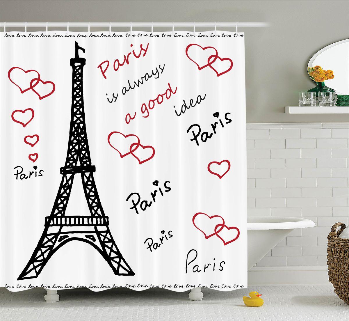 Штора для ванной комнаты Magic Lady Paris is always a good idea, 180 х 200 см футболка для беременных there is only a good mother 00031 2015