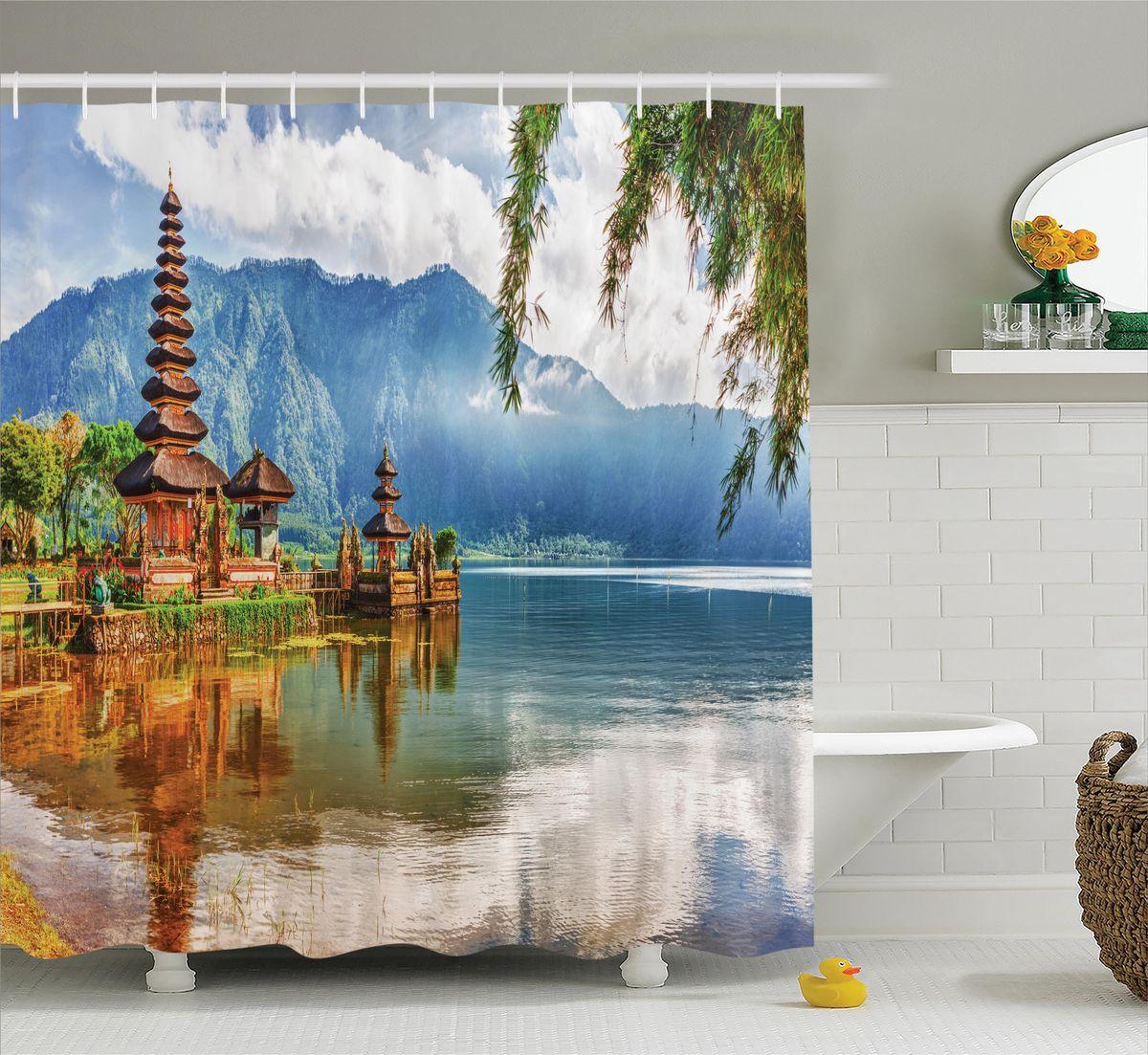 Штора для ванной комнаты Magic Lady Деревянная пагода над водой, 180 х 200 смшв_12249Штора Magic Lady Деревянная пагода над водой, изготовленная из высококачественного сатена (полиэстер 100%), отлично дополнит любой интерьер ванной комнаты. При изготовлении используются специальные гипоаллергенные чернила для прямой печати по ткани, безопасные для человека. В комплекте: 1 штора, 12 крючков.Обращаем ваше внимание, фактический цвет изделия может незначительно отличаться от представленного на фото.
