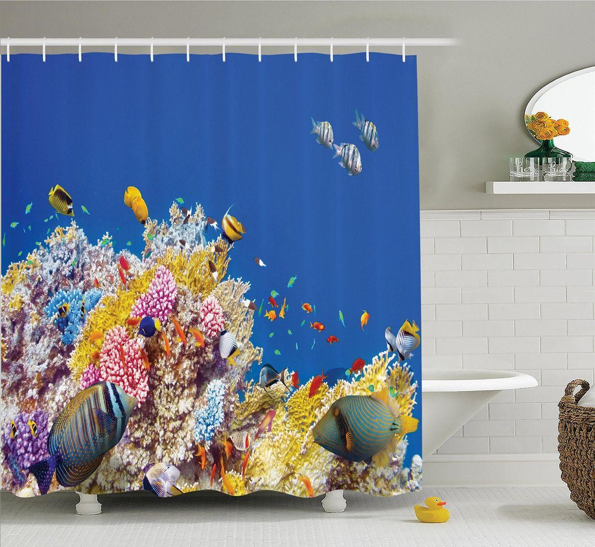 Штора для ванной комнаты Magic Lady Обитатели глубин, 180 х 200 см