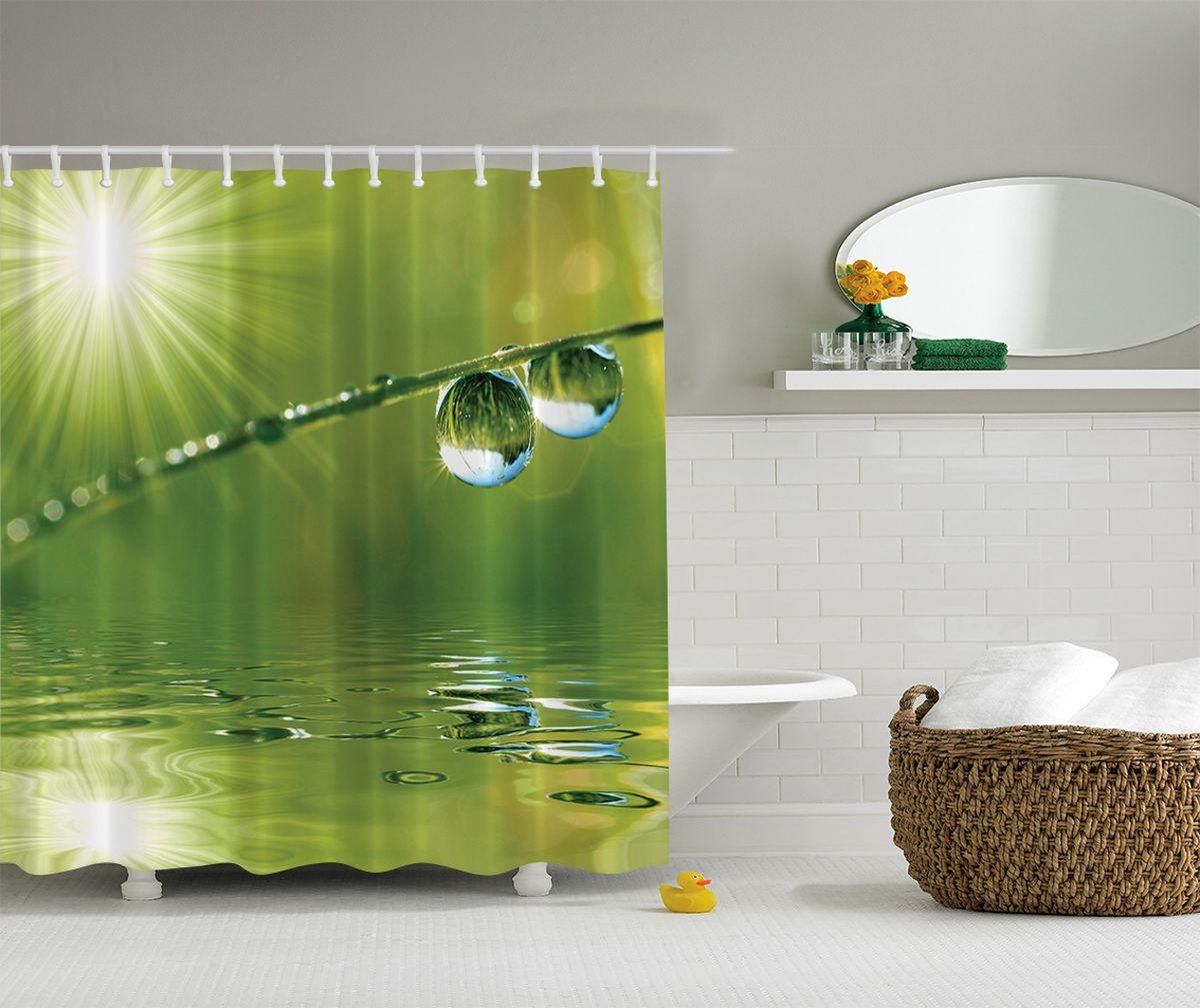 """Штора """"Magic Lady"""", изготовленная из высококачественного сатена (полиэстер 100%), отлично дополнит любой интерьер ванной комнаты. При изготовлении используются специальные гипоаллергенные чернила для прямой печати по ткани, безопасные для человека.    В комплекте: 1 штора, 12 крючков."""