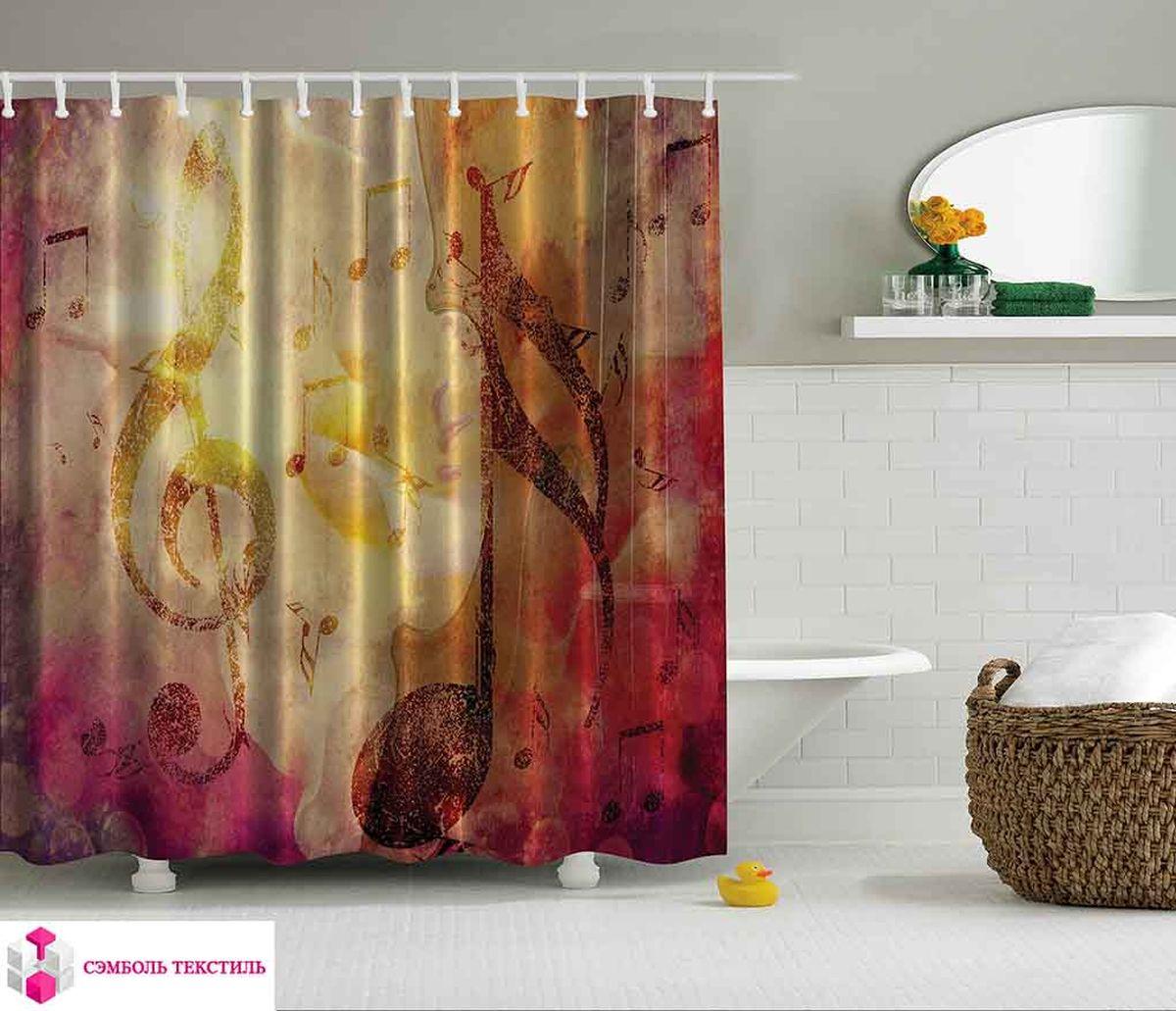 Штора для ванной комнаты Magic Lady Цветомузыка, 180 х 200 см фотоштора для ванной утка принимает душ magic lady 180 х 200 см