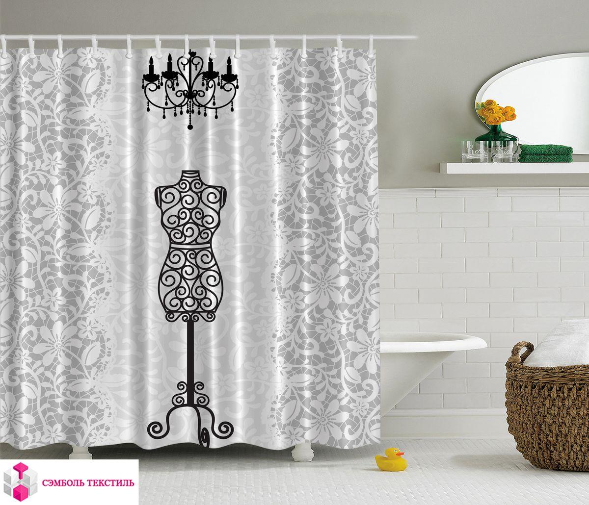 Штора для ванной комнаты Magic Lady Ателье, 180 х 200 см фотоштора для ванной утка принимает душ magic lady 180 х 200 см