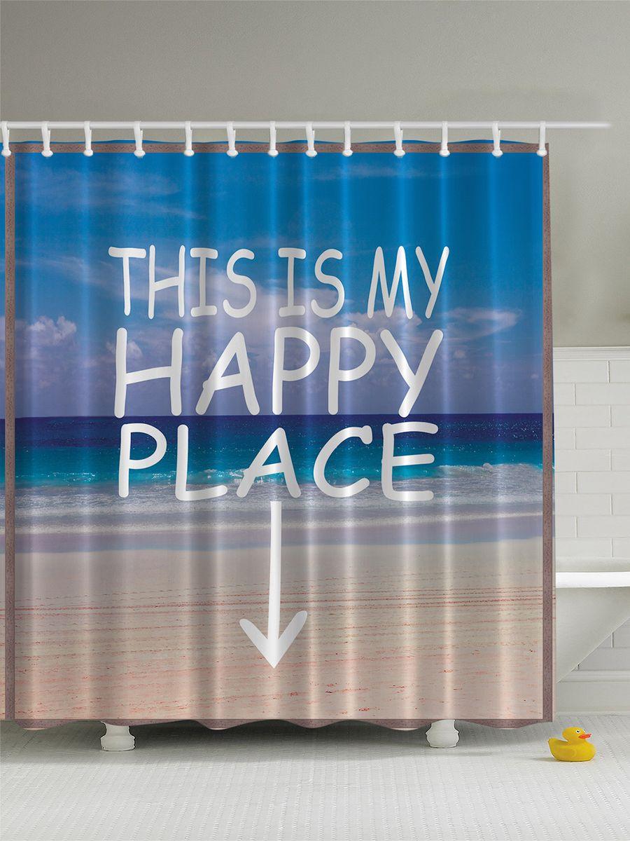 Штора для ванной комнаты Magic Lady Пляж, море, песок. Счастливое место, 180 х 200 смшв_5307Штора Magic Lady Пляж, море, песок. Счастливое место, изготовленная из высококачественного сатена (полиэстер 100%), отлично дополнит любой интерьер ванной комнаты. При изготовлении используются специальные гипоаллергенные чернила для прямой печати по ткани, безопасные для человека.В комплекте: 1 штора, 12 крючков. Обращаем ваше внимание, фактический цвет изделия может незначительно отличаться от представленного на фото.