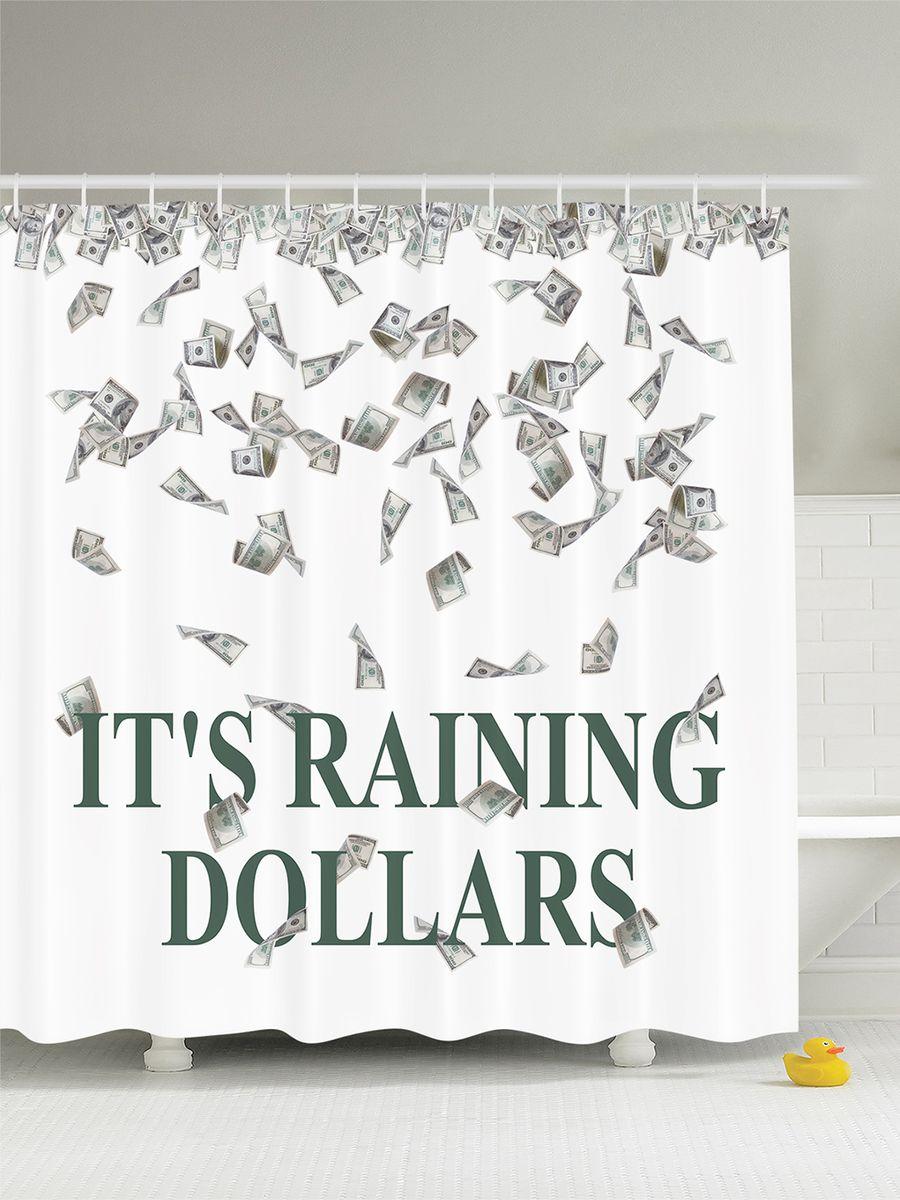 Штора для ванной комнаты Magic Lady Its raining dollars, 180 х 200 смшв_7607Штора Magic Lady Its raining dollars, изготовленная из высококачественного сатена (полиэстер 100%), отлично дополнит любой интерьер ванной комнаты. При изготовлении используются специальные гипоаллергенные чернила для прямой печати по ткани, безопасные для человека.В комплекте: 1 штора, 12 крючков. Обращаем ваше внимание, фактический цвет изделия может незначительно отличаться от представленного на фото.