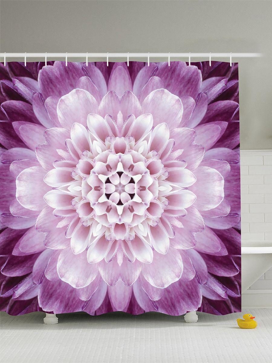 Штора для ванной комнаты Magic Lady Лиловый цветок, 180 х 200 смшв_8770Штора Magic Lady Лиловый цветок, изготовленная из высококачественного сатена (полиэстер 100%), отлично дополнит любой интерьер ванной комнаты. При изготовлении используются специальные гипоаллергенные чернила для прямой печати по ткани, безопасные для человека.В комплекте: 1 штора, 12 крючков. Обращаем ваше внимание, фактический цвет изделия может незначительно отличаться от представленного на фото.