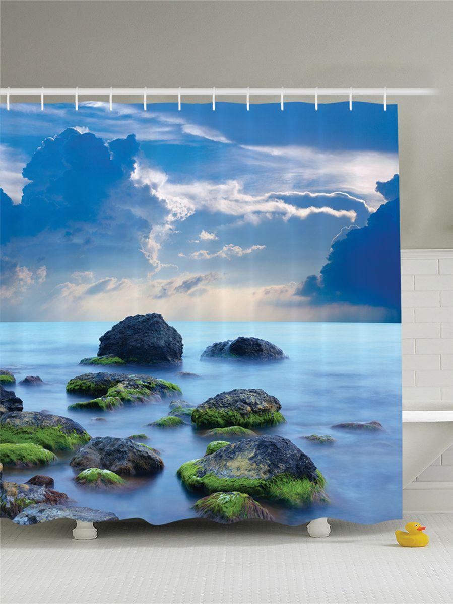 Штора для ванной комнаты Magic Lady Мшистые камни, 180 х 200 смшв_8942Штора Magic Lady Мшистые камни, изготовленная из высококачественного сатена (полиэстер 100%), отлично дополнит любой интерьер ванной комнаты. При изготовлении используются специальные гипоаллергенные чернила для прямой печати по ткани, безопасные для человека.В комплекте: 1 штора, 12 крючков. Обращаем ваше внимание, фактический цвет изделия может незначительно отличаться от представленного на фото.