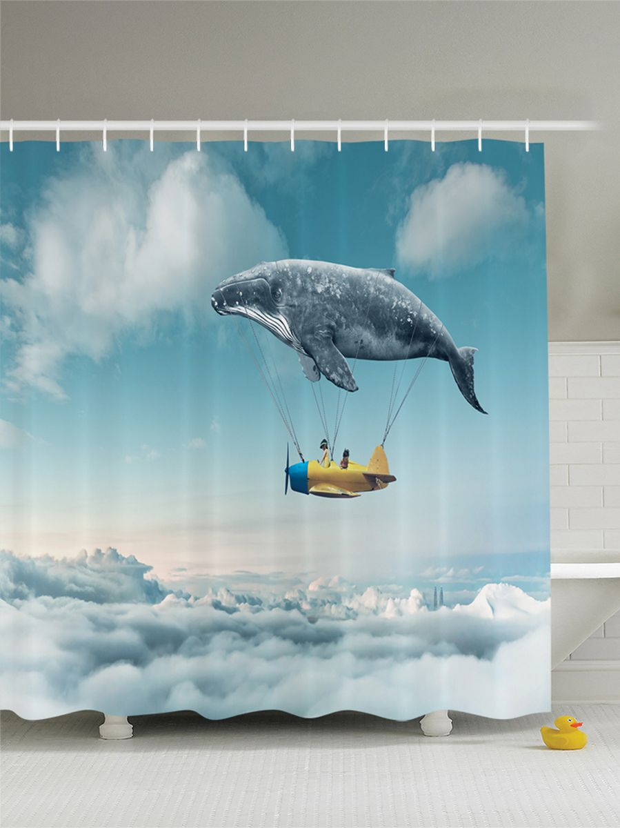 """Штора Magic Lady """"Над облаками. Детский сон"""", изготовленная из высококачественного сатена (полиэстер 100%), отлично дополнит любой интерьер ванной комнаты. При изготовлении используются специальные гипоаллергенные чернила для прямой печати по ткани, безопасные для человека.    В комплекте: 1 штора, 12 крючков. Обращаем ваше внимание, фактический цвет изделия может незначительно отличаться от представленного на фото."""