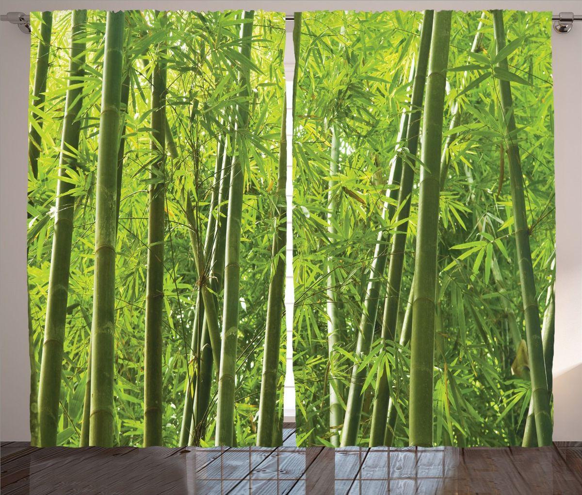 Комплект фотоштор Magic Lady Бамбуковый лес, на ленте, высота 265 см