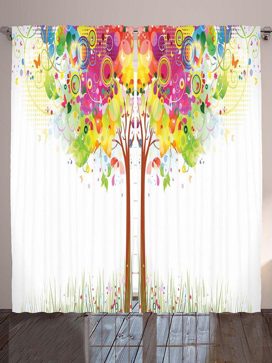 Комплект фотоштор Magic Lady Волшебное дерево, на ленте, высота 265 смшсг_2926Фотошторы Magic Lady Волшебное дерево, изготовленные из высококачественного сатена (полиэстер 100%), отлично дополнят любой интерьер. При изготовлении используются специальные гипоаллергенные чернила для прямой печати по ткани, безопасные для человека и животных. Крепление на карниз при помощи шторной ленты на крючки.В комплекте 2 шторы, 50 крючков. Ширина одного полотна: 145 см.Высота штор: 265 см.Изображение на мониторе может немного отличаться от реального.