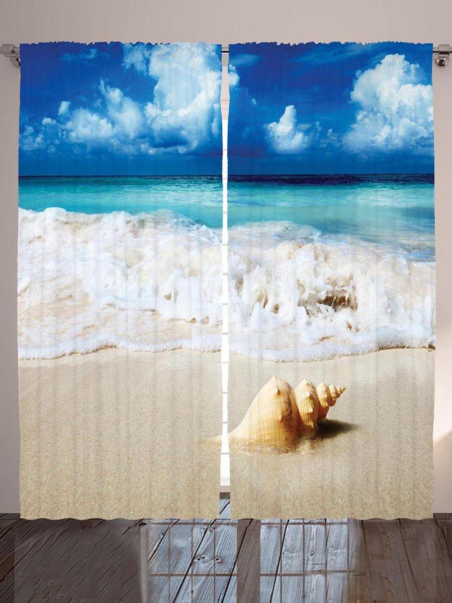 Комплект фотоштор Magic Lady Ракушка на песке, на ленте, высота 265 смшсг_8972Фотошторы Magic Lady Ракушка на песке, изготовленные из высококачественного сатена (полиэстер 100%), отлично дополнят любой интерьер. При изготовлении используются специальные гипоаллергенные чернила для прямой печати по ткани, безопасные для человека и животных. Крепление на карниз при помощи шторной ленты на крючки.В комплекте 2 шторы, 50 крючков. Ширина одного полотна: 145 см.Высота штор: 265 см.Изображение на мониторе может немного отличаться от реального.