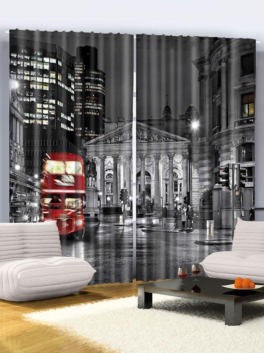 Комплект фотоштор Magic Lady Езда автобуса в Лондоне, на ленте, высота 265 см