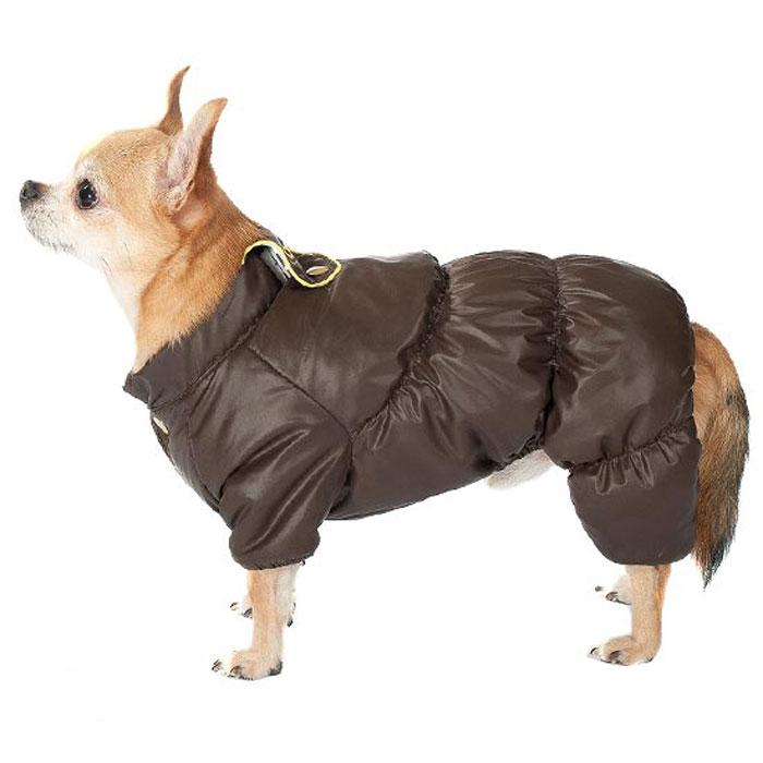 Комбинезон для собак Dogmoda Чихуахуа, унисекс, цвет: коричневыйDM-160262Комбинезон для собак Dogmoda Чихуахуа отлично подойдет для прогулок поздней осенью или ранней весной. Комбинезон изготовлен из полиэстера, защищающего от ветра и осадков, с подкладкой из вельбоа, которая сохранит тепло и обеспечит отличный воздухообмен. Комбинезон застегивается на кнопки, благодаря чему его легко надевать и снимать. Благодаря такому комбинезону простуда не грозит вашему питомцу и он не даст любимцу продрогнуть на прогулке.Размер стандартный.Длина по спинке: 28 см.Объем груди: 40 см.Обхват шеи: 28 см.Одежда для собак: нужна ли она и как её выбрать. Статья OZON Гид