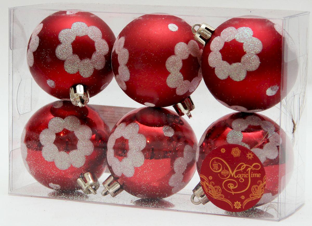 Украшение новогоднее подвесное Magic Time Ромашки на красном, диаметр 6 см, 6 шт39010Новогоднее подвесное украшение Magic Time Ромашки на красном прекрасно подойдетдля праздничного декора новогодней ели. Изделия выполнены из высококачественного пластика. Для удобногоразмещения на елке на украшениях предусмотрены ушки и веревочки. Елочная игрушка - символ Нового года. Она несет в себе волшебство и красоту праздника.Создайте в своем доме атмосферу веселья и радости, украшая новогоднюю елку наряднымиигрушками, которые будут из года в год накапливать теплоту воспоминаний.Откройте для себя удивительный мир сказок и грез. Почувствуйте волшебные минутыожидания праздника, создайте новогоднее настроение вашим дорогим и близким.