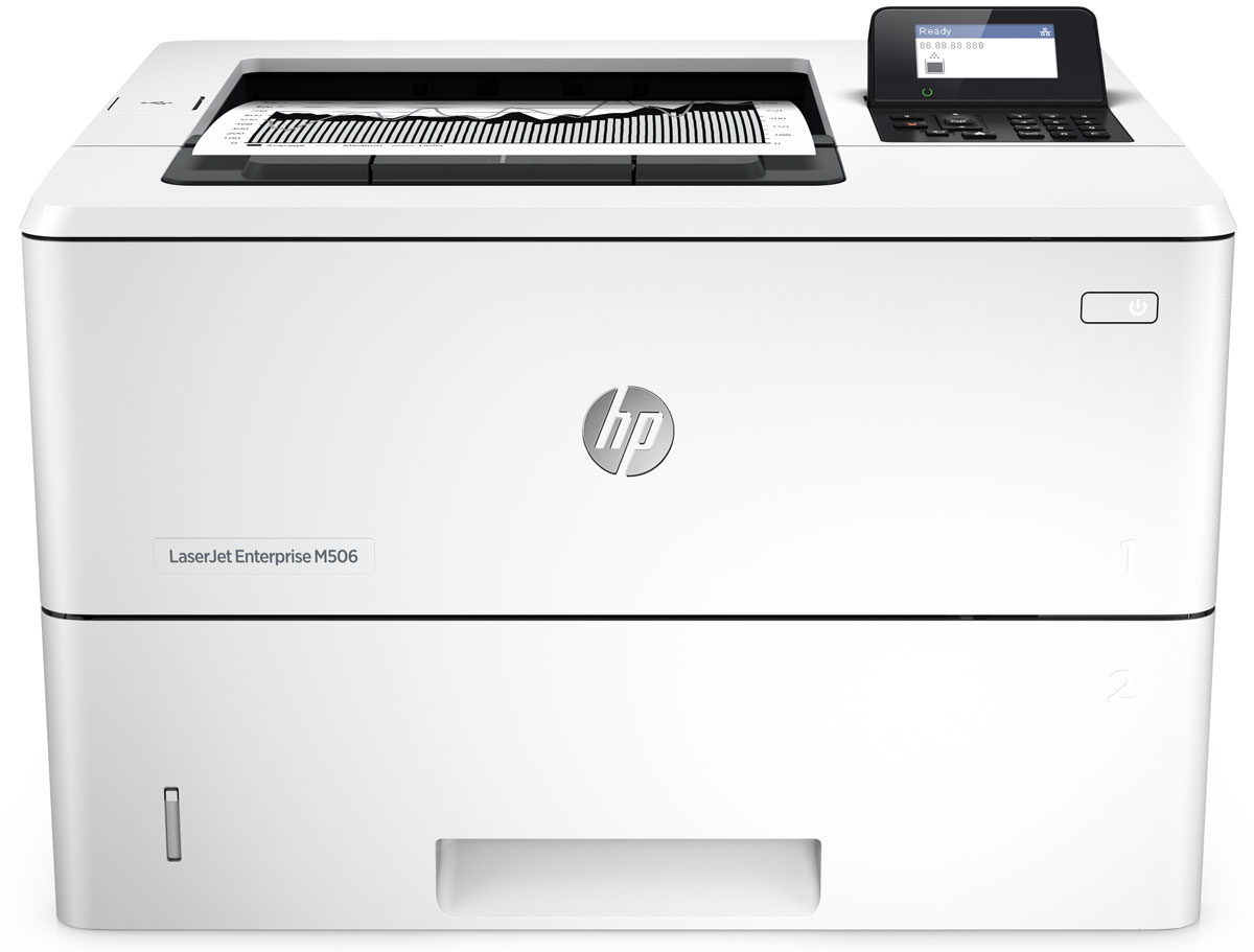 HP LaserJet Enterprise M506dn принтер лазерный (F2A69A) hp laserjet enterprise m506dn принтер лазерный f2a69a