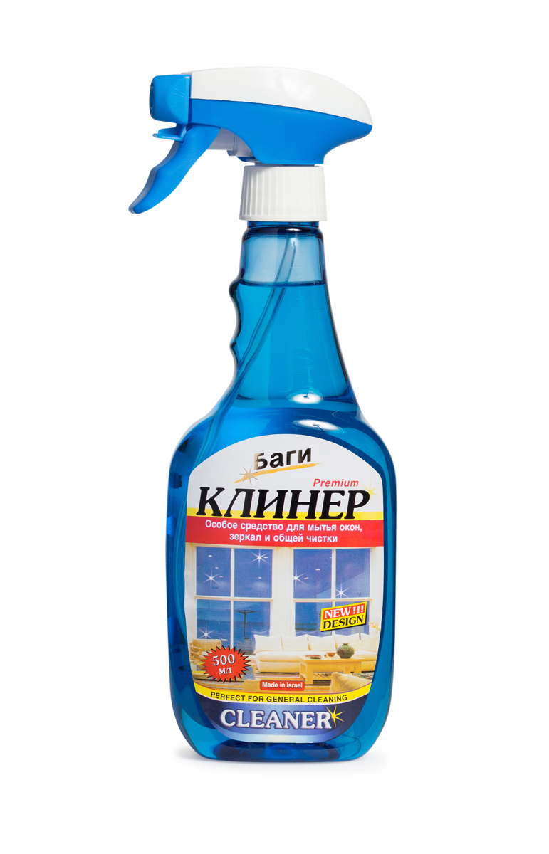 Средство для мытья окон и общей чистки Bagi Клинер Спрей, 500 млH-208320-0Клинер спрей - это эффективное средство для удаления пятен, грязи, следов от пальцев при мытье окон, жалюзи, пластиковой мебели, общей уборки помещений. Нейтрализует неприятные запахи, оставляет освежающий аромат.Способ применения: Открыть предохранитель и распылить жидкость по поверхности. Затем сразу же протрите поверхность бумажным полотенцем или сухой салфеткой, не оставляющей ворсинок. Для получения наилучшего результата используйте Чудо Бумагу Супер Блеск и Чудо Тряпку Баги.Меры предосторожности: Для людей с чувствительной кожей рекомендуется пользоваться защитными перчатками. Препарат не годится для употребления в пищу. Хранить в недосягаемом для детей месте. В случае попадания в глаза, немедленно промыть проточной водой. Если вы проглотили средство, необходимо выпить воды и обратиться к врачу.Состав: активизированные вещества, изопропанол, ароматизатор.Товар сертифицирован.