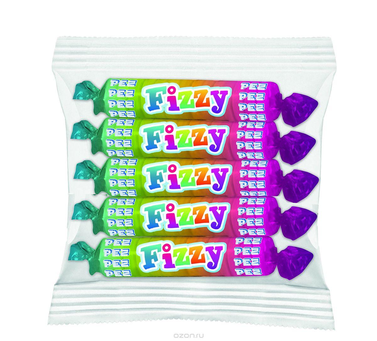 PEZ Fizzy конфеты фруктовые, 30 г