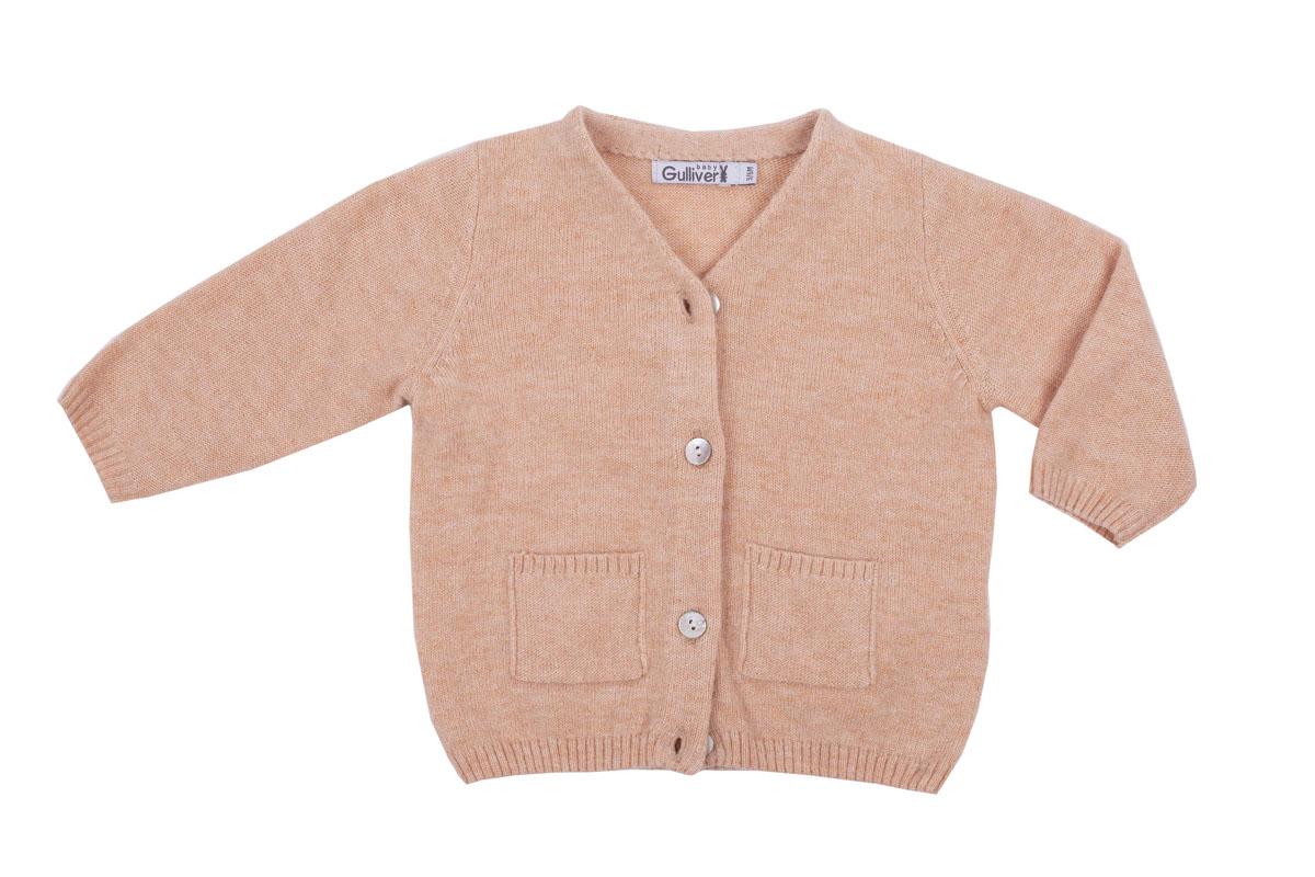 Кофта детская Gulliver Baby, цвет: бежевый. 216GBUNC3501. Размер 6/9мес gulliver baby ветровка gulliver baby 115gbbc4001 бежевый