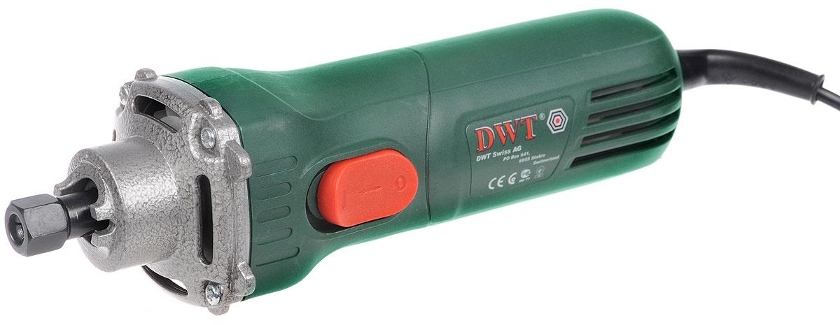 Машина шлифовальная DWT GS06-27, прямаяGS06-27Прямая шлифовальная машина DWT GS06-27 предназначена для выполнения различных шлифовальных работ (например, удаления заусенцев и острых кромок) при помощи корундовых шлифовальных принадлежностей. Эргономичный дизайн, позволяет удерживать электроинструмент одной рукой во время работы. Имеется блокировка кнопки включения. В комплект входят дополнительная ручка, 2 шлифовальных камня, доводочный брусок, рожковый ключ, штифт, инструкция по эксплуатации и гарантийный талон. Выходная мощность: 300 Вт.Внутренний диаметр шпинделя: 10 мм.Внутренний диаметр цангового зажима: 6 мм.Звуковое давление: 83 dB.Акустическая мощность: 94 dB. Вибрация: 2,25 м/с2.