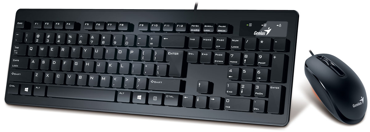Genius Slimstar C120, Black клавиатура + мышь