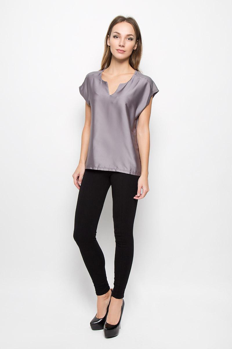 Блузка женская Broadway Nadina, цвет: серый. 10156670. Размер L (48) блузка женская broadway reyleigh цвет темно синий 10156643 541 размер l 48