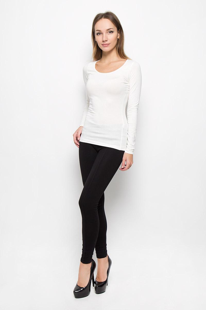 Лонгслив женский Broadway Alessia, цвет: молочный. 10156602. Размер L (48)10156602_001Женский лонгслив Broadway Alessia выполнен из мягкого эластичного хлопка. Материал изделия тактильно приятный, не стесняет движений и позволяет коже дышать, обеспечивая комфорт. Однотонная модель с круглым вырезом горловины - базовый элемент одежды, необходимый для создания большинства повседневных образов.Лаконичный дизайн и совершенство стиля подчеркнут вашу индивидуальность!