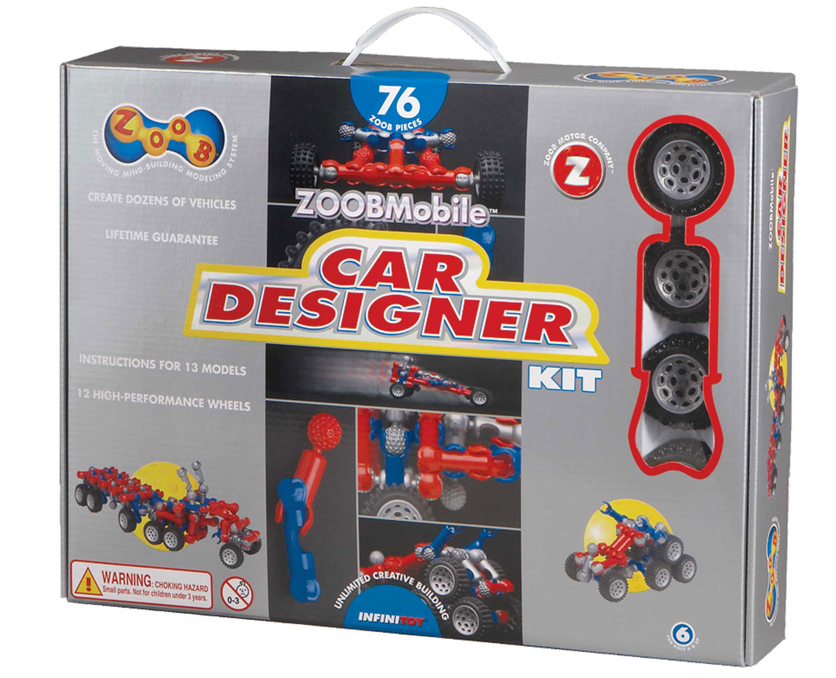 Zoob Конструктор Car Designer набор для сборки машинки s2 muscle car deluxe modarri