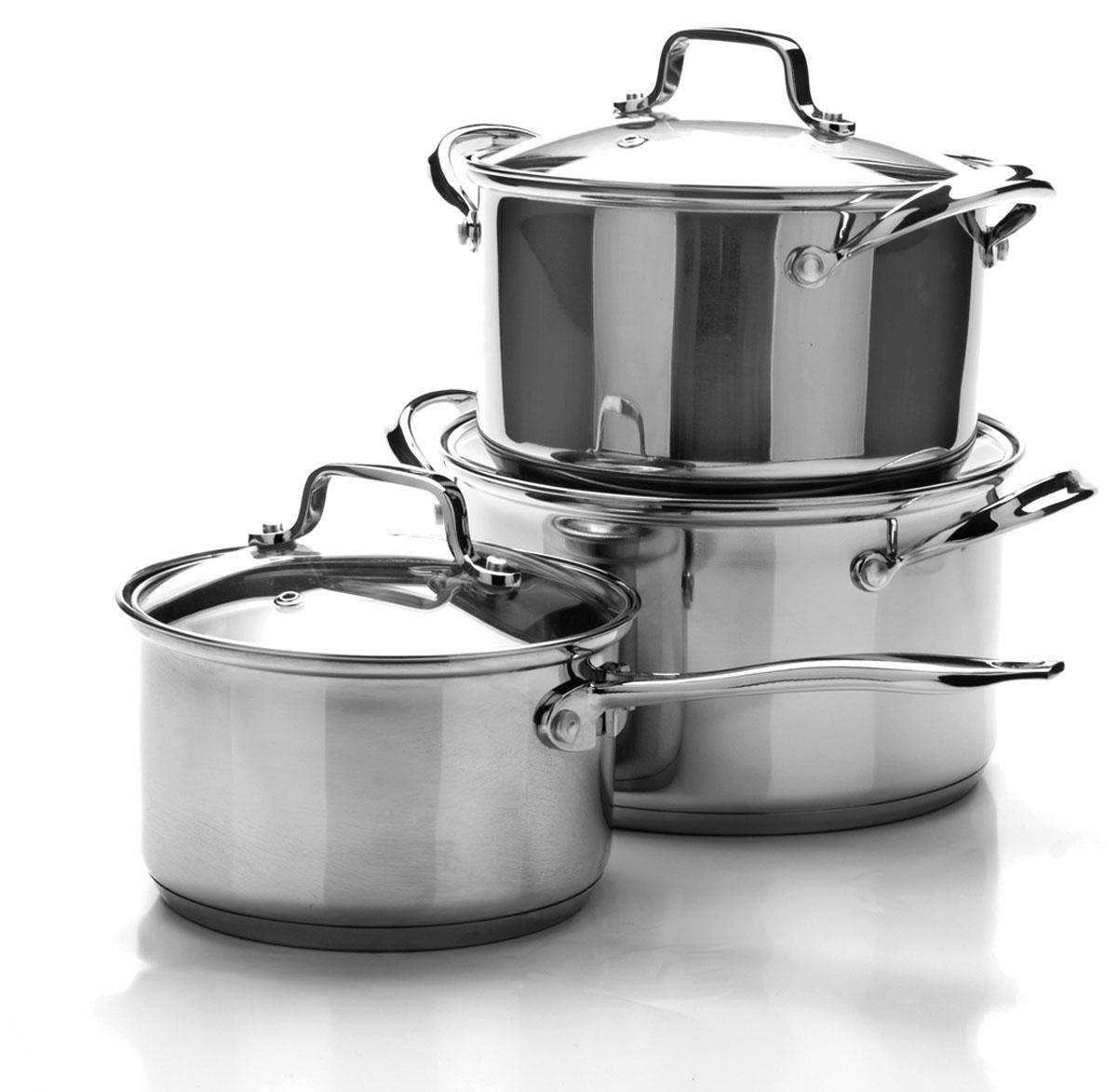 Набор посуды Mayer & Boch, 6 предметов. 2509325093Набор посуды станет отличным дополнением к набору кухонной утвари. С его приобретением приготовление ваших любимых блюд перейдет на качественно новый уровень и вы сможете воплотить в жизнь любые кулинарные идеи. В комплект входят 6 предметов: 3 кастрюли (объем 2/ 2,7/ 3,7), 3 крышки. Набор многофункционален и удобен в использовании, подойдет для варки супов, приготовления блюд из мяса и рыбы, гарниров, соусов т. д.